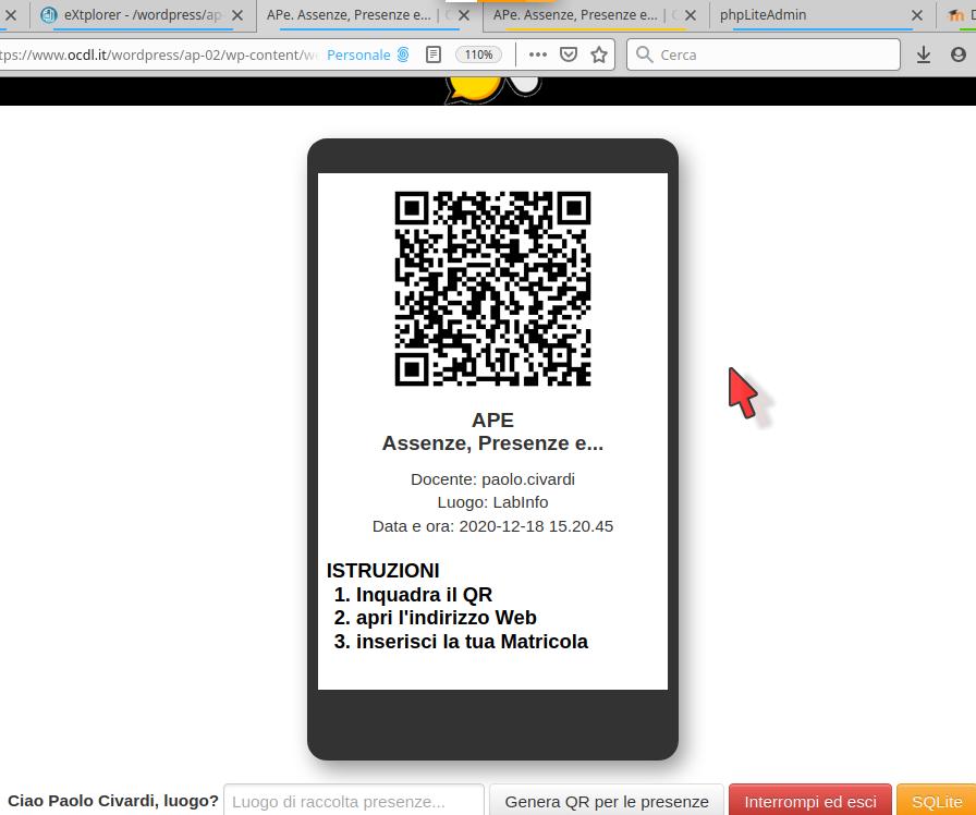 Screenshot APE
